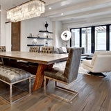 Farmhouse Chateauneuf European Oak Hardwood in a Contemporary Open Space in Calgary