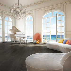Coastline Lagoon Ash Hardwood in an Ocean View Room Scene