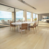 Coastline Nautical Mile Rift Oak Hardwood in an Open Space Room Scene