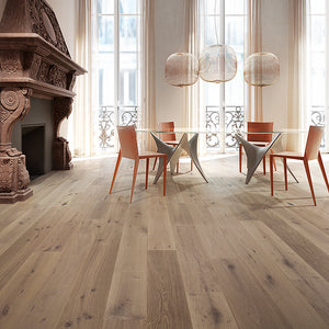 Cosmopolitan Chateau European Oak Hardwood in Parisian Apartment