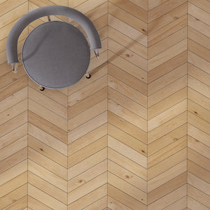 Cosmopolitan Naked European Oak Hardwood in Traditional Chevron Layout