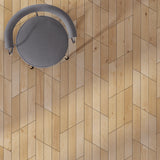 Cosmopolitan Naked European Oak Hardwood in an Alternative Chevron Configuration