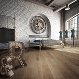 Cosmopolitan Shanghai Sunrise European Oak Hardwood in an Industrial Vintage Setting