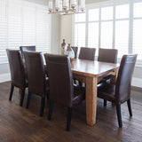 Farmhouse Escambert European Oak Hardwood in a dining room