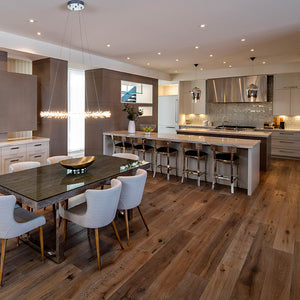 Cosmopolitan Farmer's Tan European Oak Hardwood in Calgary Kitchen