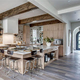 Cosmopolitan Farmer's Tan European Oak Hardwood in Calgary Modern Farmhouse