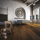Farmhouse Capbourteil European Oak Hardwood in an Industrial Vintage Setting