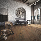 Farmhouse Chateauneuf European Oak Hardwood in an Industrial Vintage Setting