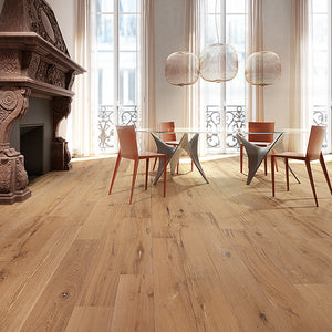 Farmhouse Cabbiavoli European Oak Hardwood in a Parisian Apartment