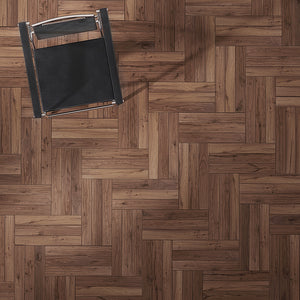Farmhouse Corsanello Walnut Hardwood in an Alternative Herringbone Configuration