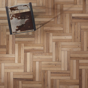 Farmhouse Vernazza European Oak Hardwood in an Alternative Herringbone Configuration