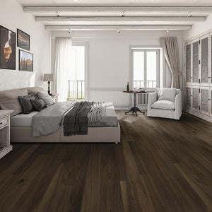 French Impressions Natural Walnut Hardwood in Casual Bedroom