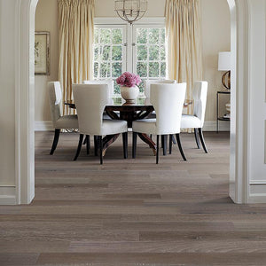 French Impressions Chambord Hickory Hardwood in Traditional Dining Room