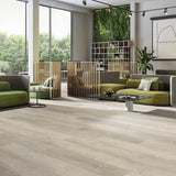 Dreams Loose Lay Vinyl Plank Flooring from the Journey Collection by Divine installed in a commercial lounge area