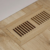 Louis XIV Lorraine French White Oak Hardwood with Matching Flush Mount Vents