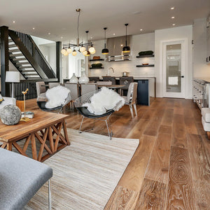 Cosmopolitan Malibu European Oak Hardwood in a luxury home