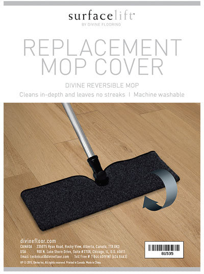Replacement micro fibre mop cover