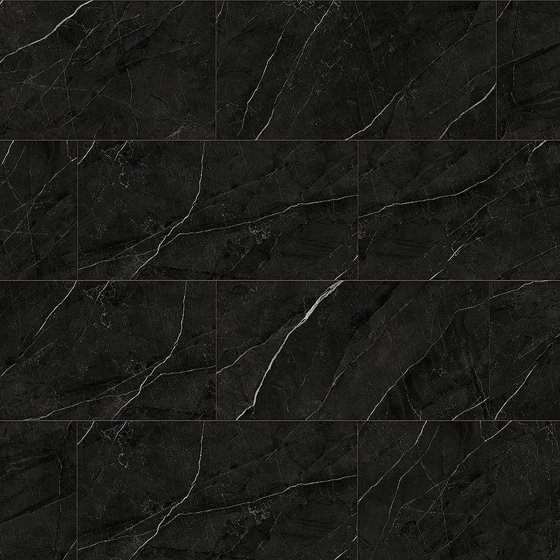 Bombshell Black Marble Luxury Vinyl Tile Flooring