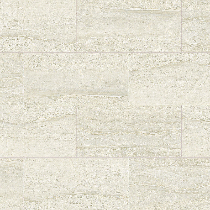 Havana vein cut travertine look in luxury vinyl tile flooring
