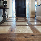 Farmhouse Tenuta Moriano European Oak Hardwood Installed with Tile Transitions