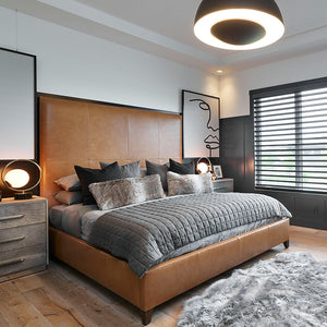 Farmhouse Vernazza European Oak Hardwood installed in an urban bedroom