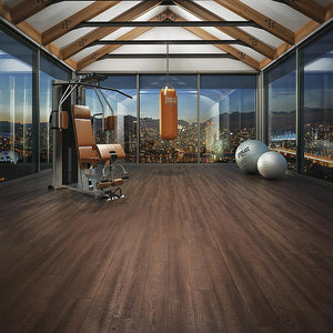 Voyage African Queen Oak Luxury Vinyl in Gym