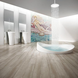 Voyage Chain Lightning Oak Luxury Vinyl in Contemporary Bathroom