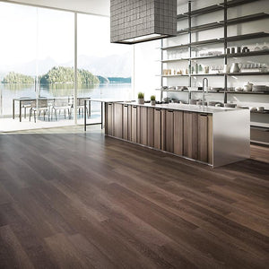 Voyage Dark Passage Oak Luxury Vinyl in Contemporary Kitchen