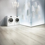 Voyage Invisible Stripes Oak Luxury Vinyl in a Laundry Room