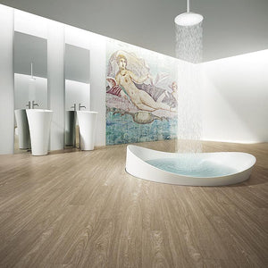 Voyage Roaring Twenties Oak Luxury Vinyl in a Contemporary Bathroom