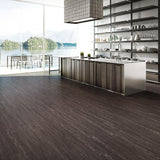 Voyage Sabrina Oak Luxury Vinyl in a Contemporary Kitchen