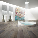 Voyage II One-Eyed Jacks Rustic Pine Luxury Vinyl in Contemporary Bathroom