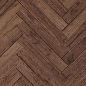 Farmhouse Corsanello Walnut Hardwood Herringbone