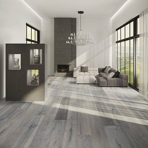 Farmhouse Abruzzo Maple Hardwood in Upscale Living Room