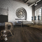 Farmhouse Montbellard European Oak Hardwood in an Industrial Vintage Setting