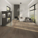 Cosmopolitan Fawn Over European Oak Hardwood in Upscale Living Room