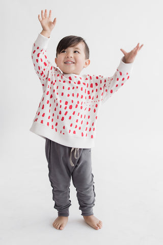 Dots in a Row Sweatshirt in Ash White