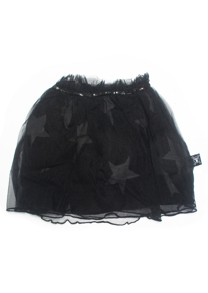Tulle Star Skirt Black