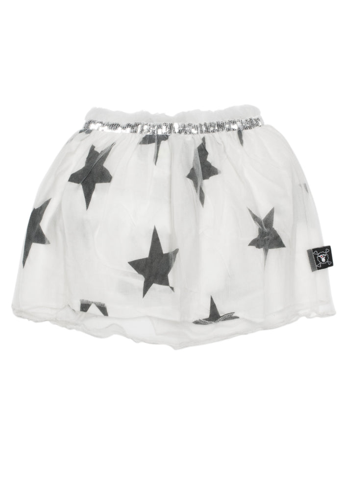 Tulle Star Skirt White