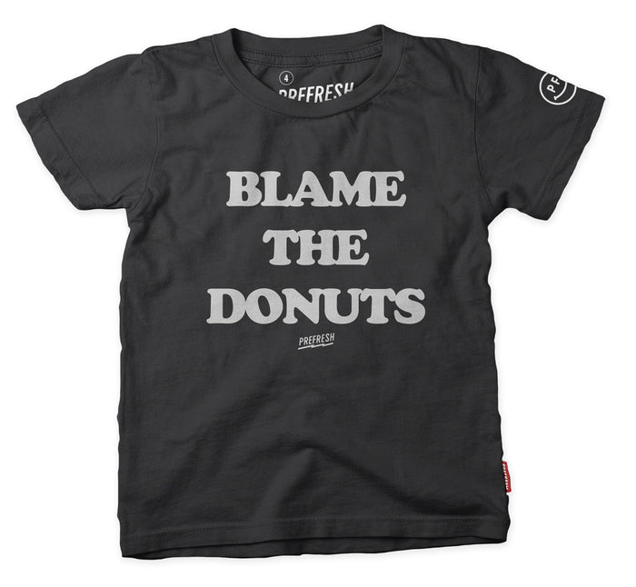 Blame the Donuts Tee - Black
