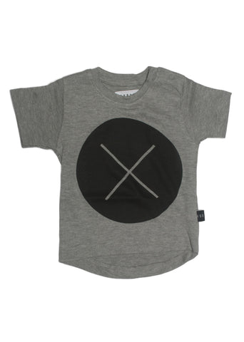 Circle Cross Black Drop Back T-Shirt