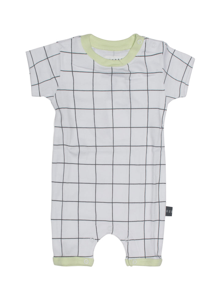 Grid Short Romper