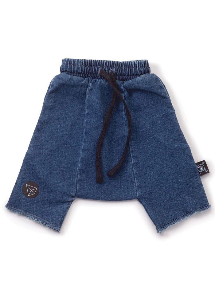 Denim Harem Shorts