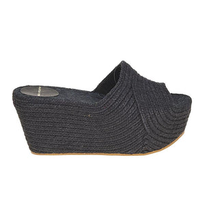 Woven Jute Wedge - Black - CRAVE WARES