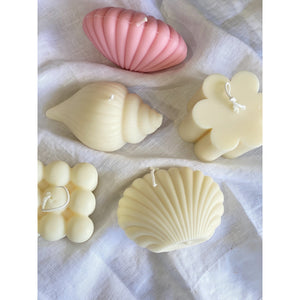Clam Shell Candle - Pink
