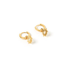 Athena Gold Charm Earrings