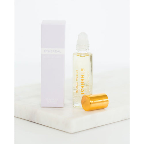 Ethereal Crystal Perfume Oil Roller - Clear Quartz