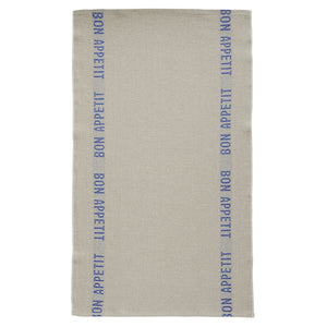 Bon Appetit Tea Towel - Natural/Blue