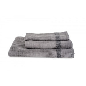 Antibes Linen Towels - Charcoal