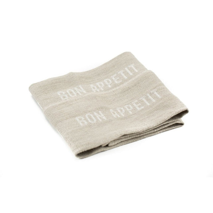 Bon Appetit Tea Towel - White/Natural